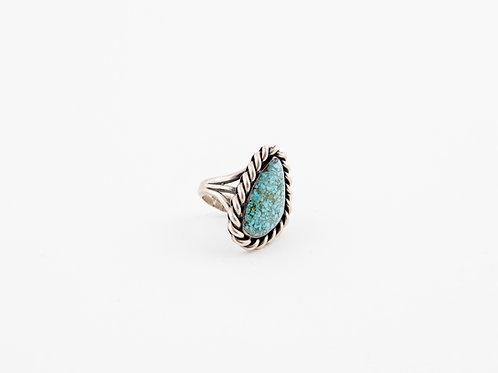 Large Vintage Turquoise Sterling Ring