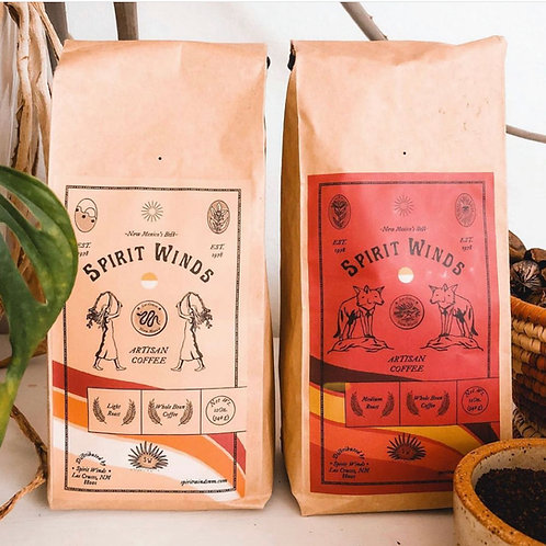 Spirit Winds Coffee 12 oz bag - Limited Release - Light and Dark Roast