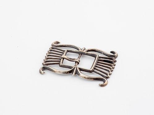 Vintage Sandcast Silver Belt Buckle