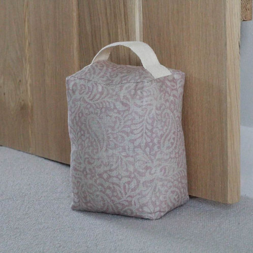 Peony & Sage Linen Doorstop - India in old silk