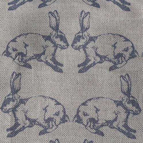 RawXclusive Linen Doorstop - Bunnies in blue/grey