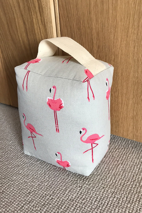 Sophie Allport Cotton Doorstop - Flamingos