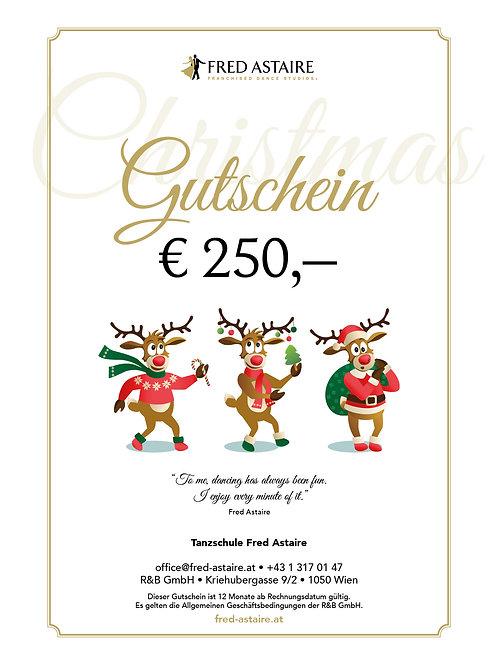 Kopie von ONLINE-GUTSCHEIN - WERT € 250,-