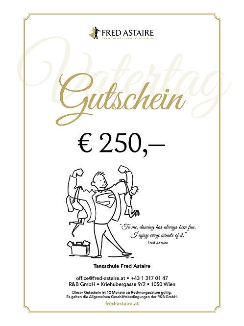 """ONLINE-GUTSCHEIN - """"VATERTAG"""" € 250,-"""