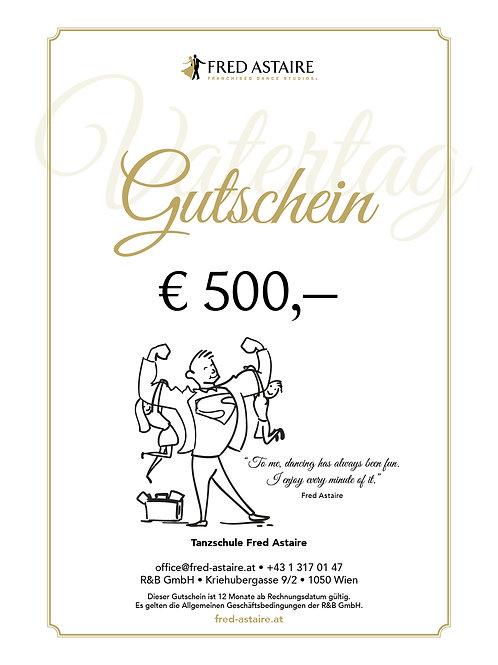 """ONLINE-GUTSCHEIN - """"VATERTAG"""" € 500,-"""