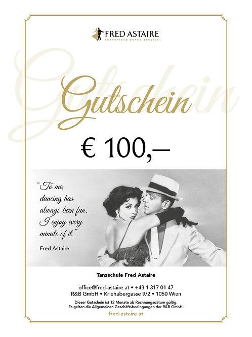 ONLINE-GUTSCHEIN - WERT € 100,-