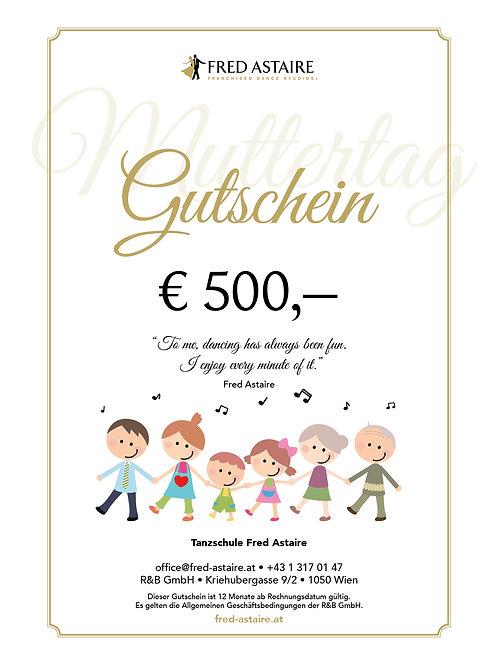"""ONLINE-GUTSCHEIN - """"MUTTERTAG"""" € 500,-"""