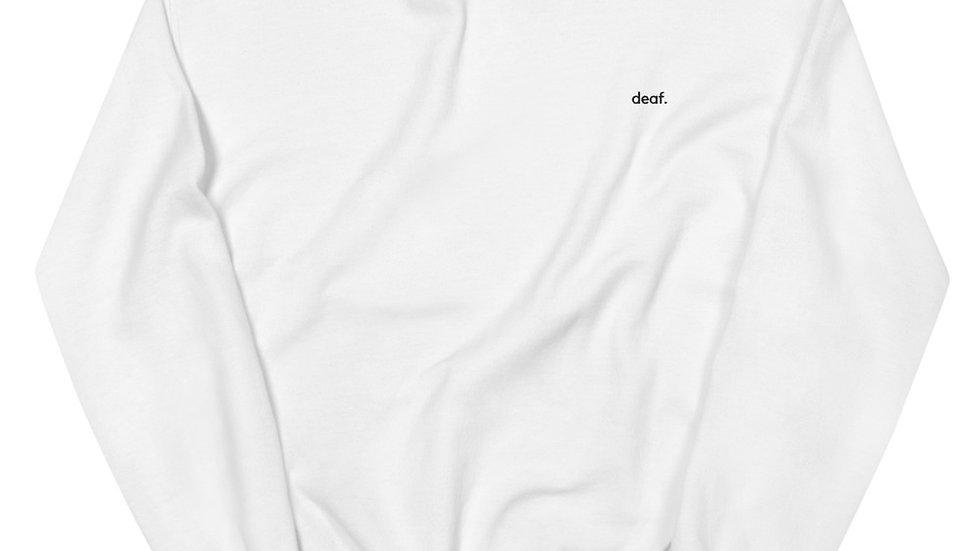 deaf. - Unisex Sweatshirt - Embroidery