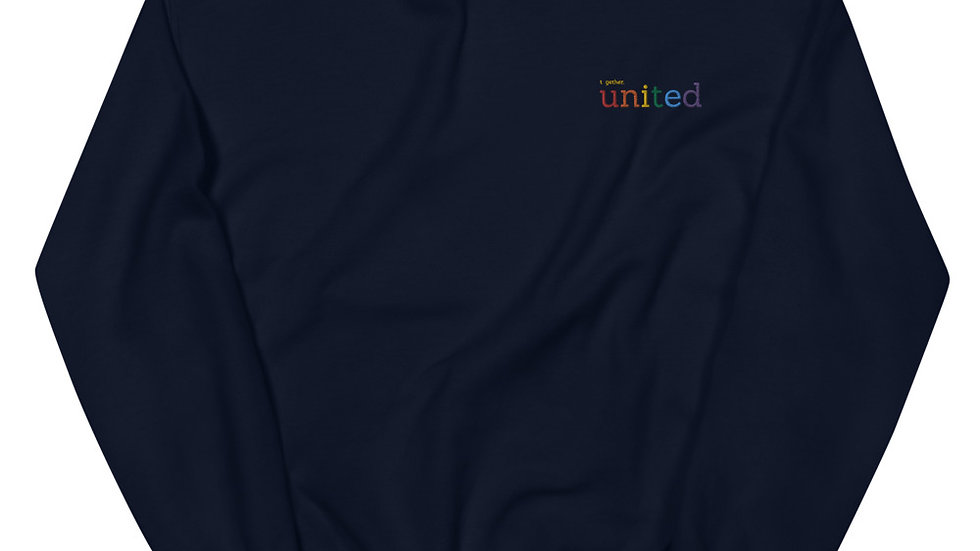 together united - Unisex Sweatshirt - Embroidery