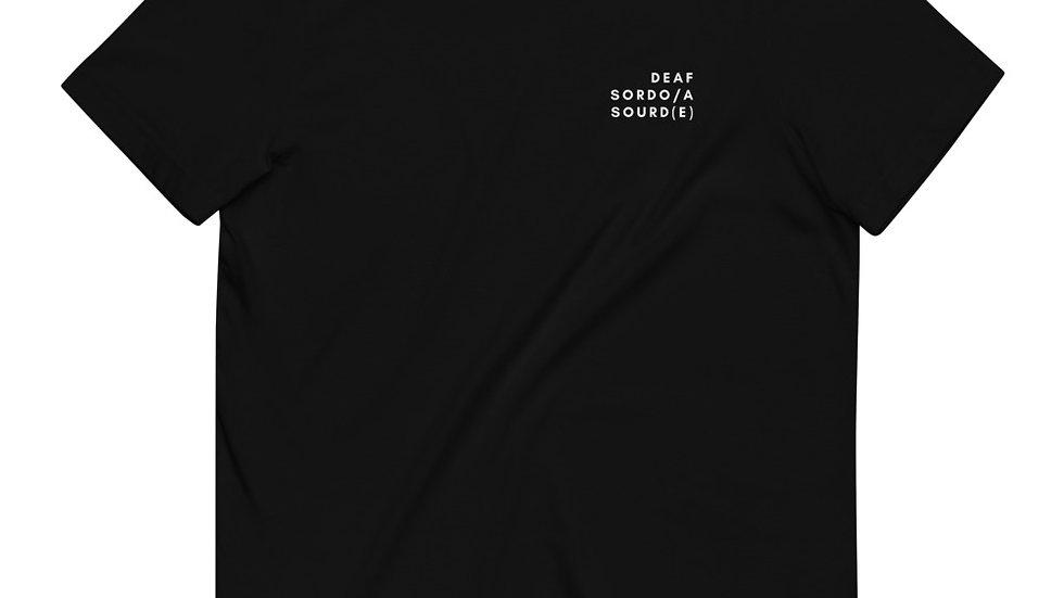 Deaf - Surdo/a - Sourd(e) - Unisex - 100% Organic Cotton T-Shirt