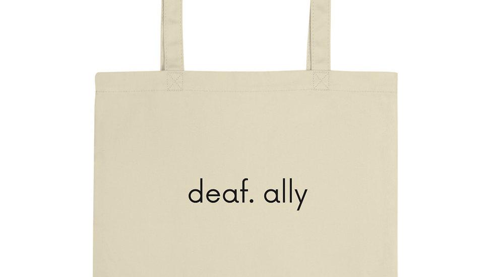 deaf. ally - white - Eco Tote Bag