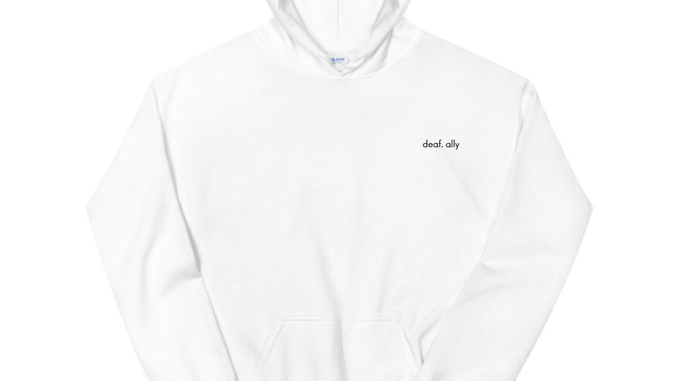 deaf. ally - Unisex Hoodie - Embroidery