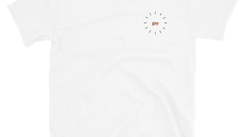 Gay - Short-Sleeve Unisex T-Shirt - Embroidery