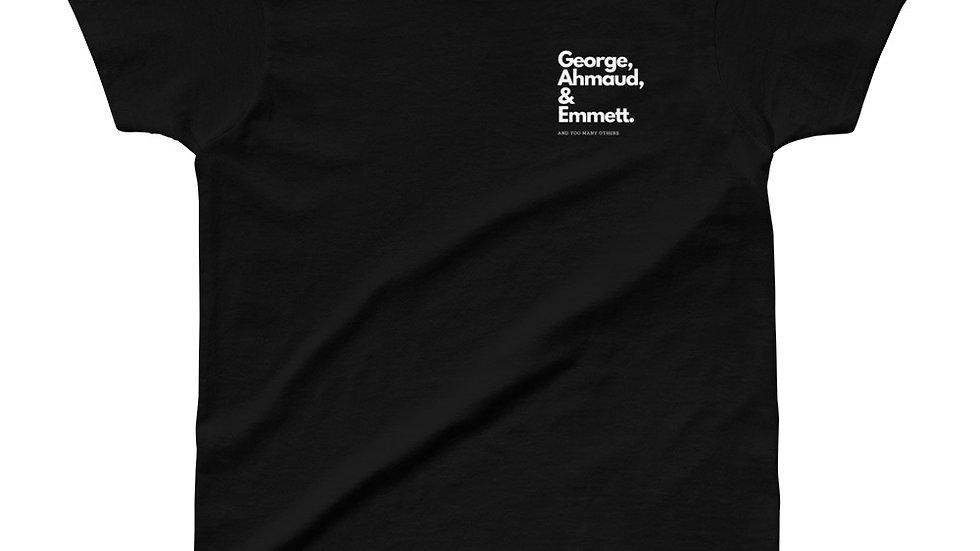 George, Ahmaud, Emmett - Black Lives Matter - Black T-Shirt Women