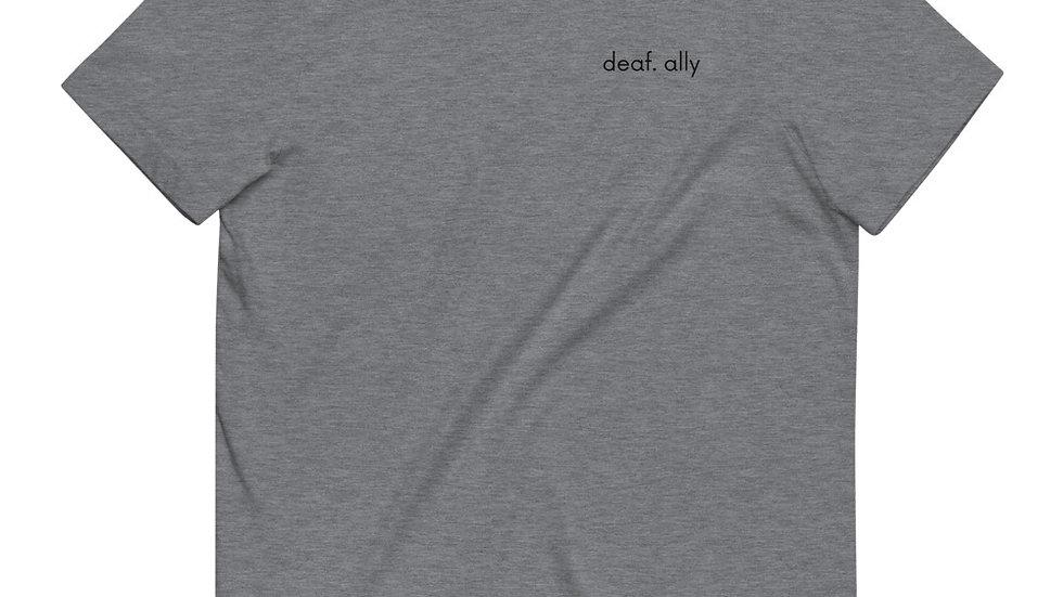 deaf. ally - Unisex - 100% Organic Cotton T-Shirt