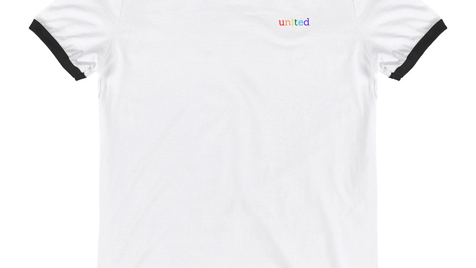 united - Unisex - Ringer T-Shirt - 100% Cotton