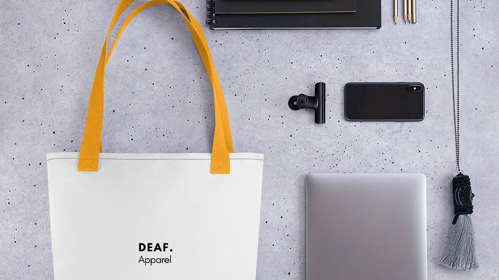 deaf. Tote bag