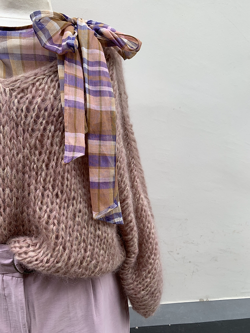 ATTIC AND BARN Topje met strikkraag
