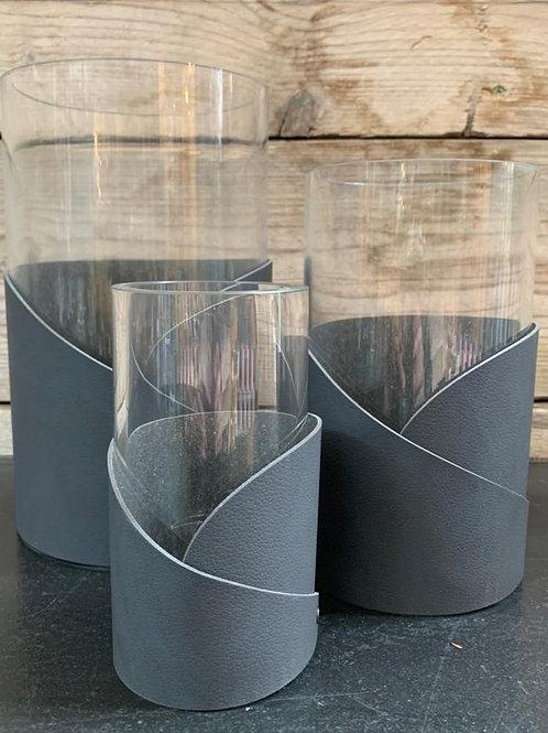 LIND DNA Vaas Met Wrap Leder Grijs XL