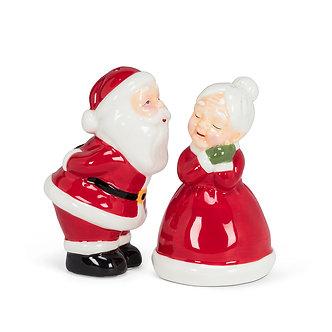 SALT & PEPPER KISSING COUPLE