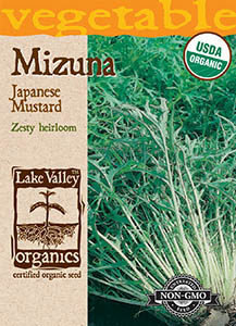 ORGANIC MUSTARD GREENS MIZUNA JAPANESE MUSTARD   H