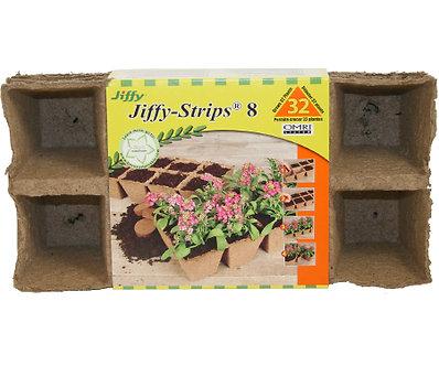 Jiffy 2.5in Peat Strip 4 Strips of 8 Pots Each