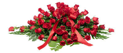 Red Rose & Ivy Spray