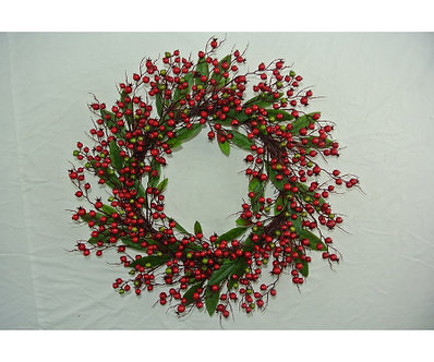 WREATH 24 RED BERRY