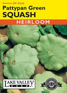 SQUASH SUMMER PATTYPAN GREEN  HEIRLOOM