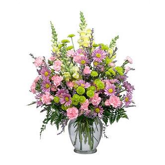 Lavender  Yellow Vase