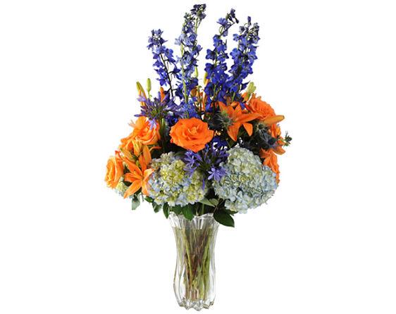 Blue & Orange Arrangement