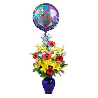 Blue Vase w/Balloon