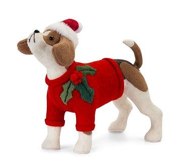 CHRISTMAS DOG 15X13