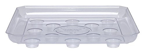 CWP Heavy Gauge Footed Square Carpet Saver Saucer 12-Inch Clear