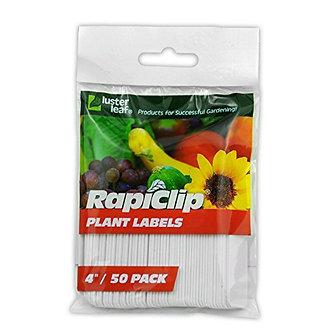 Luster Leaf Rapiclip 4-Inch Garden Plant Labels - 50 Pack 827