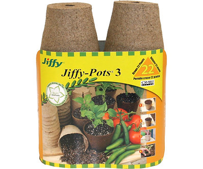 Jiffy 22pk 3in Round Peat Pots