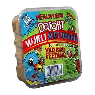 Mealworm Delight Assorted Species Wild Bird Food Beef Suet 11.75 Oz.