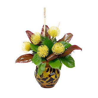 Yellow Pincushion Arrangement