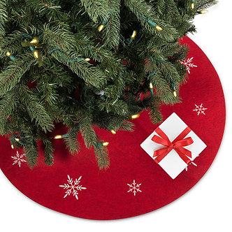 TREESKIRT RED SNOWFLAKE