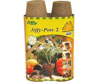 Jiffy 26pk 2in Round Peat Pots
