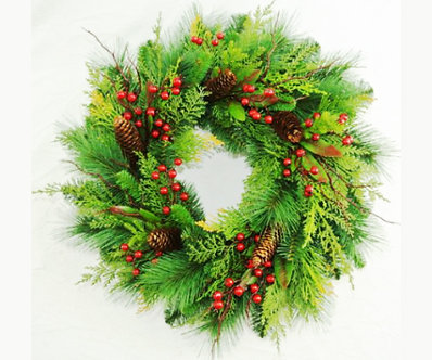 WREATH 24 MIXED PINE