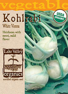 ORGANIC KOHLRABI WHITE VIENNA  HEIRLOOM
