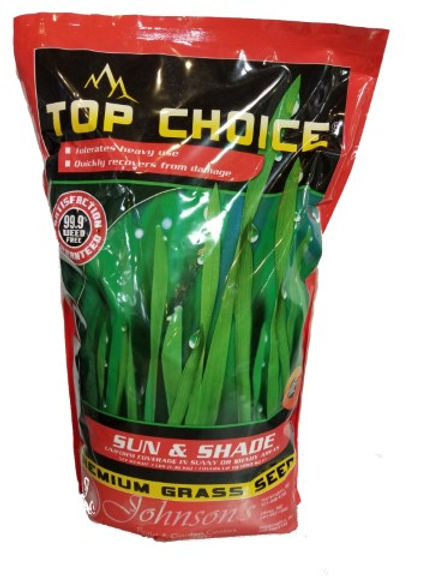 Johnson's Top Choice Premium Grass Seed Sun and Shade Mixture