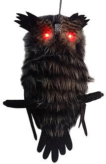 OWL HANGING HAIRY 18