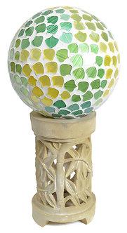 Gazing Globe 'Mosaic Green' 10 Inch