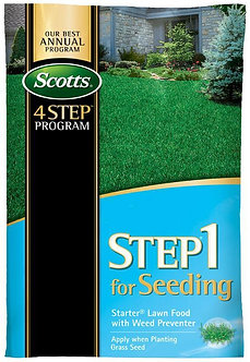 Scotts STEP 1 For Seeding - Starter Lawn Food with Weed Preventer 5,000 Sq Ft