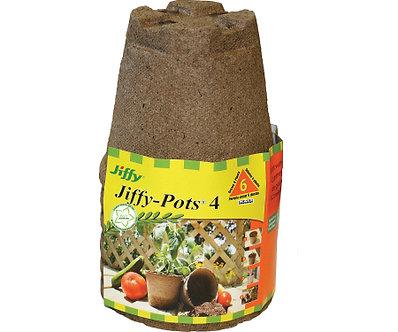 Jiffy 6pk 4in Round Peat Pot