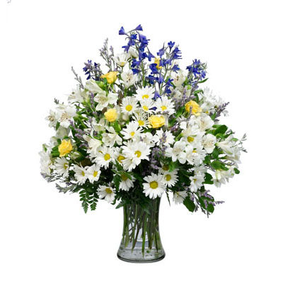 Blue & White Vase Arrangement