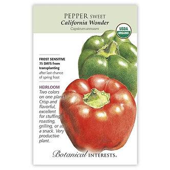 Pepper Sweet (grn/r) Cal Wonder Org