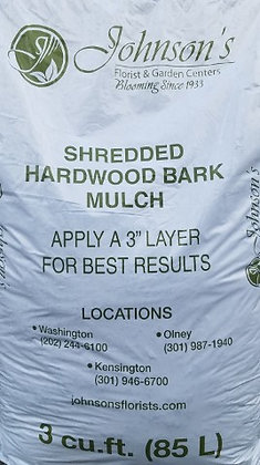 Johnson's Shredded Hardwood Mulch 3 Cubit feet